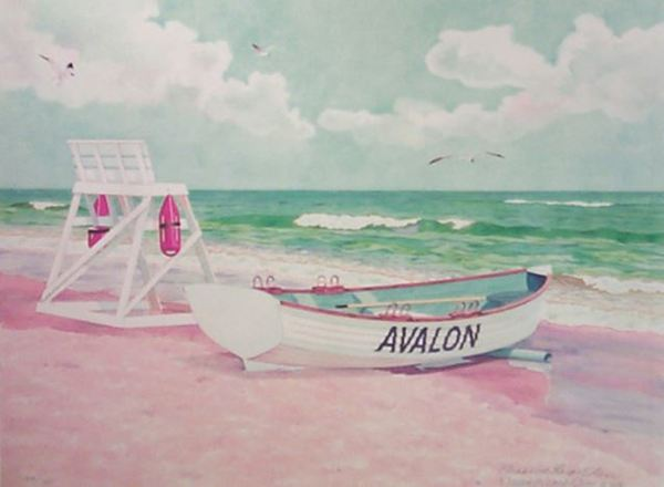 ELISABETH OLVER - Avalon II - Limited Edition Print - 24 x 18 inches
