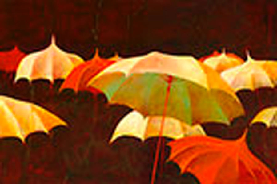 SIMON BULL - Let It Rain - Giclee on Board - 24 x 36 inches