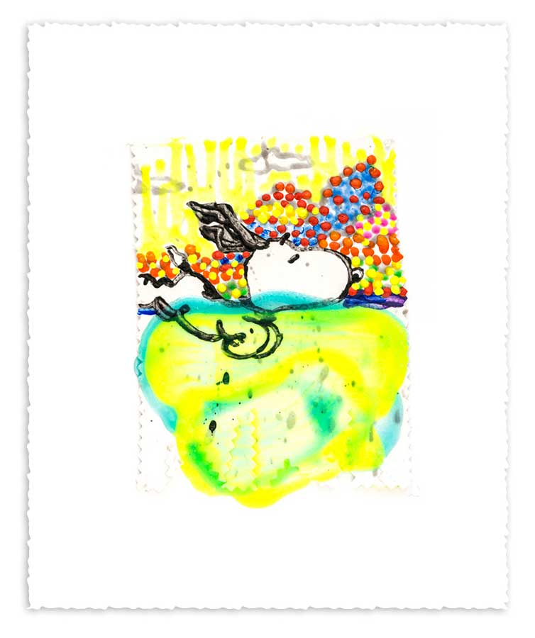 TOM EVERHART - Dogg E Paddle XVl - Giclee & Silkscreen on Paper - 6x7.5 inches