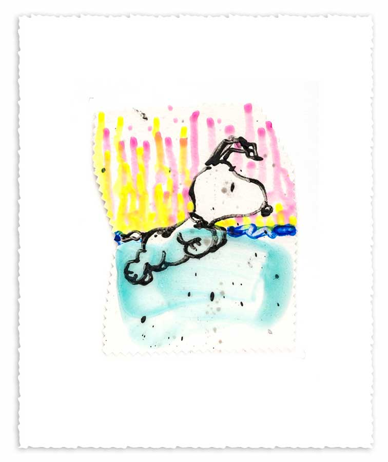 TOM EVERHART - Dogg E Paddle XX - Giclee & Silkscreen on Paper - 6x7.5 inches