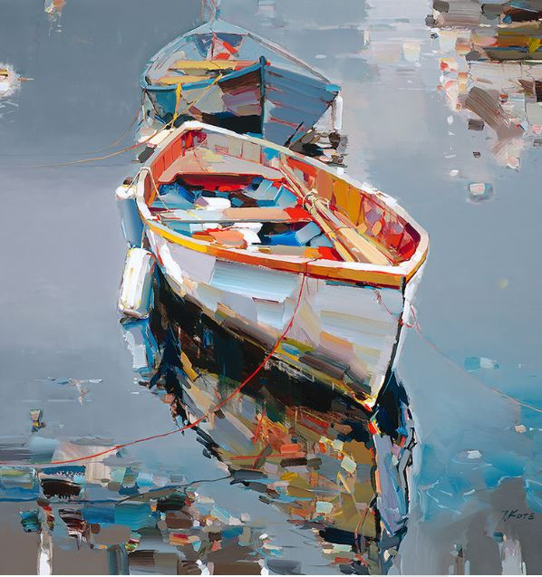 JOSEF KOTE - Direct Insight - Embellished Giclee on Canvas - 48x48 inches
