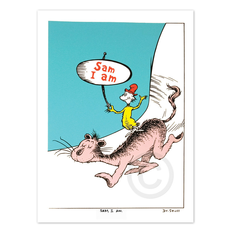 DR. SEUSS - Sam I Am Diptych - Serigraph on Coventry Rag Paper - 11.75 x 18 inches