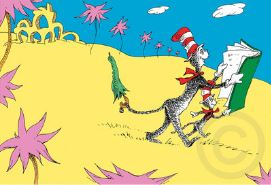 DR. SEUSS - There's So, So Much to Read! - Fine Art Pigment Print on Acid-Free Paper - 11 x 16 inches