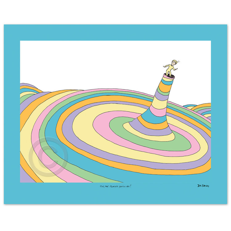 DR. SEUSS - Oh The Places You Will Go - Cover Illustration - Fine art pigment print on acid-free paper - 13x17.5 inches