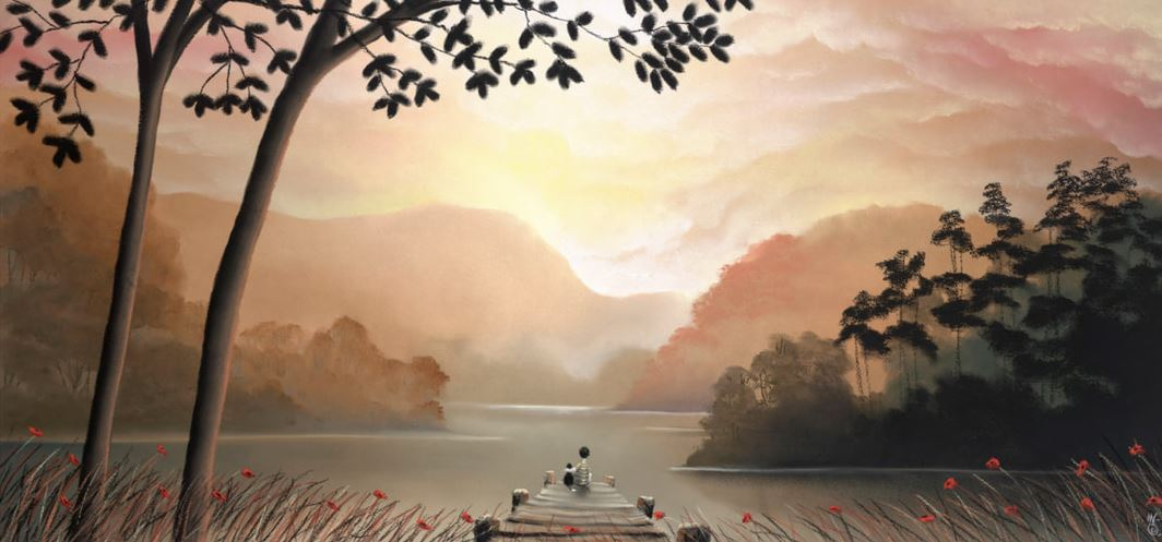 MACKENZIE THORPE - Whispering Waters - Limited Edition Giclee on Paper - 19x41 inches