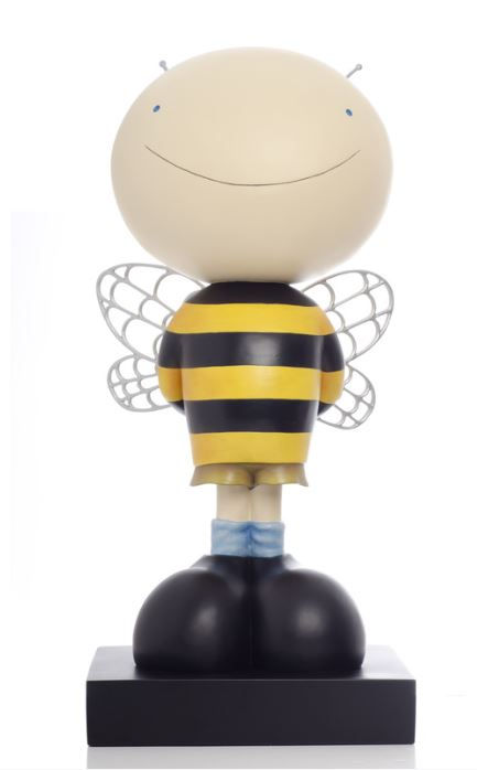 "MACKENZIE THORPE - Bee Boy - Hand Painted Cast Resin - 21.5""H x 10""W x 8""D"