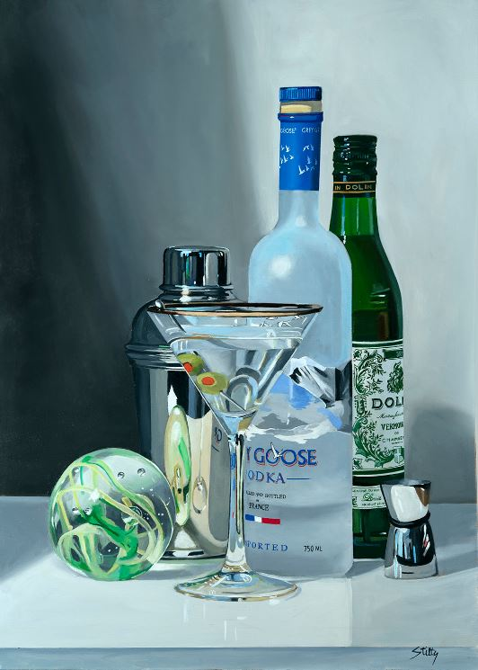THOMAS STILTZ - Martini Magic - Oil on Canvas - 26x36 inches