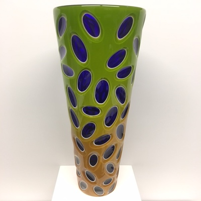 Title: Virtue Vase , Size: 15.5H x 4.5W x 4.5D inches , Medium: Blown Glass