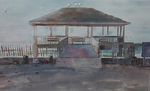 GREENLEAF - 101st Street Gazebo - Watercolor on Paper - 26 x 20 inches