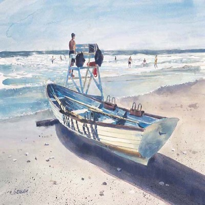 Title: Avalon Beach Patrol , Size: 12.5 x 17 inches , Medium: Limited Edition Print