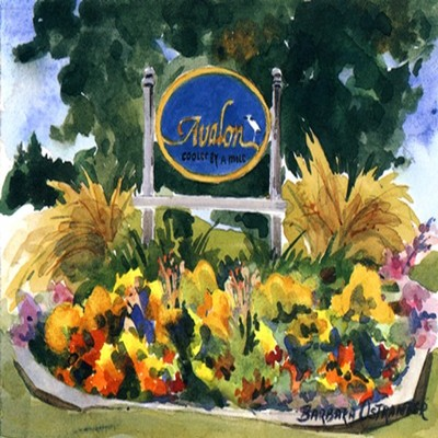 BARBARA OSTRANDER - Avalon Sign - Limited Edition Print