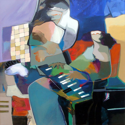 HESSAM ABRISHAMI - Inspiration - Serigraph on Canvas - 48 x 36 inches