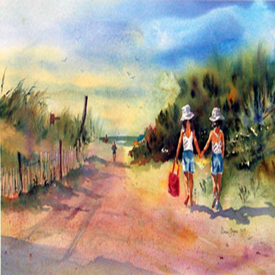 DORIS ZOGAS - Beach Bound - Limited Edition Print - 11 x 18