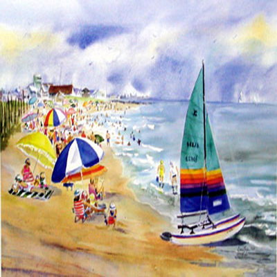 DORIS ZOGAS - Stone Harbor Summer - Limited Edition Print - 18 x 11