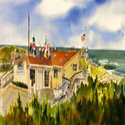 DORIS ZOGAS - Avalon Beach Patrol ll - Limited Edition Print - 11 x 28 inches