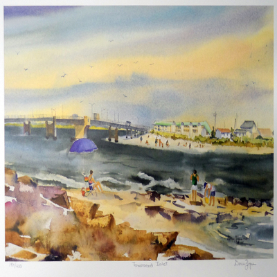 DORIS ZOGAS - Townsend Inlet - Limited Edition Print - 12 x 18 inches