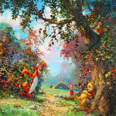 JAMES COLEMAN - Pooh's Afternoon Nap - Giclee on Canvas - 20 x 24 inches