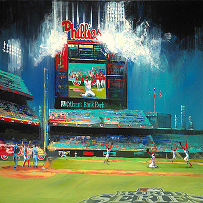 MALCOLM FARLEY - Phillies 2008 World Champions - Giclee on Canvas - 30 x 40 inches