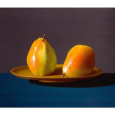 ROBERTO AZANK - Two Pears - Giclee on Paper - 12x21 inches