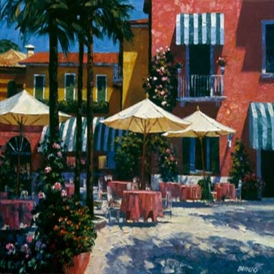 Title: Inn at Lake Garda , Size: 22x28  inches , Medium: Signed Print