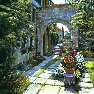 HOWARD BEHRENS - Villa Morning - Limited Edition Print - 20x30 inches
