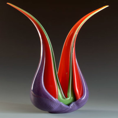 ED BRANSON - Selva Leaf - Blown Glass