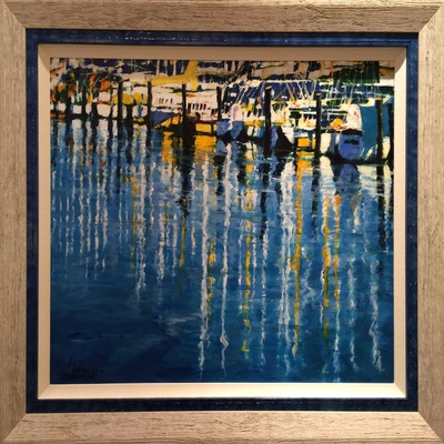 ALDO LUONGO - Marina del Sol - Oil on Canvas - 24x32 inches