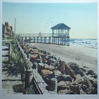 Title: Morning on the Beach Large , Size: 18x24 inches , Medium: Limited Edition Print