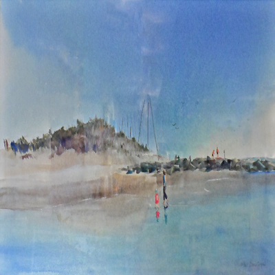 DORIS ZOGAS - Ebb Tide - Giclee on Paper - 15x25 inches