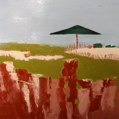 AUTUMN de FOREST - Abstract Beach - Acrylic on Canvas - 60x48   inches