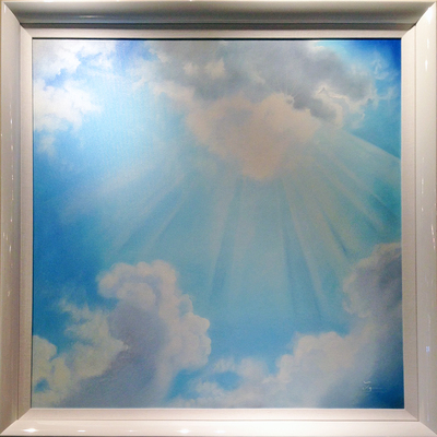 AZARIN - Cloud Scape Series - Acrylic on Canvas - 30x30 inches