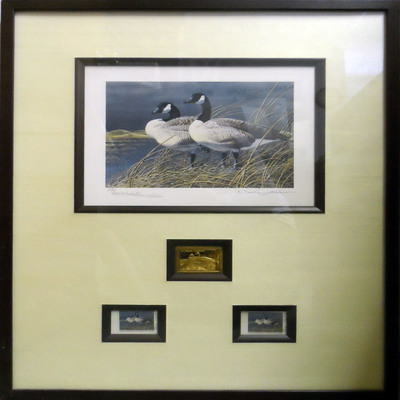 NEIL ANDERSON - 1992 Waterfowl Stamp Nebraska Mediallion - Limited Edition Print