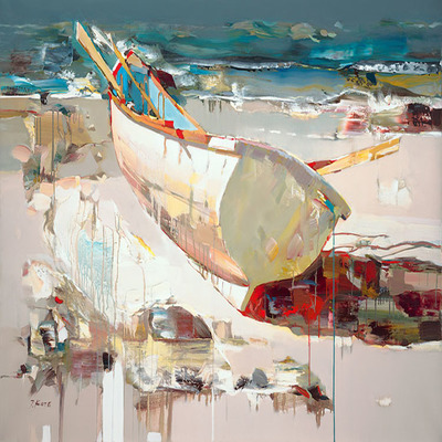 JOSEF KOTE - Always Ready - Embellished Giclee on Canvas - 36x60 inches