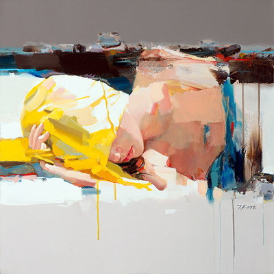 JOSEF KOTE - Don't Wake Me Up - Embellished Giclee on Canvas - 30x30 inches