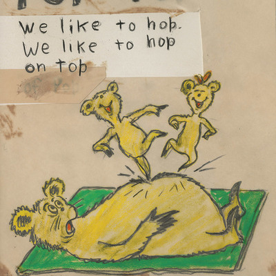 DR. SEUSS - Hop Pop Top Diptych - Fine Art Pigment Print on Acid-Free Paper - 14x22 inches