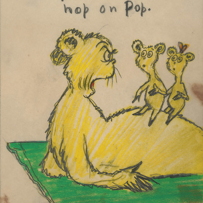 DR. SEUSS - Hop Pop Top Single Image - Fine Art Pigment Print on Acid-Free Paper - 14x11 inches