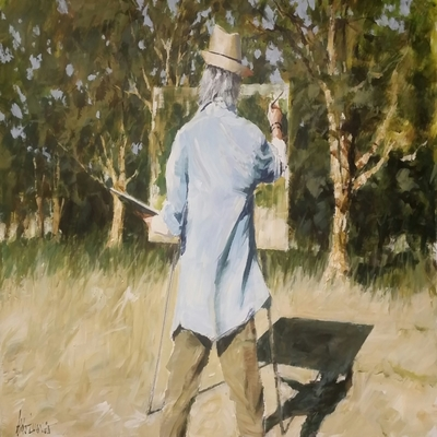 ALDO LUONGO - En Plein Air - Acrylic on Board - 20x30 inches