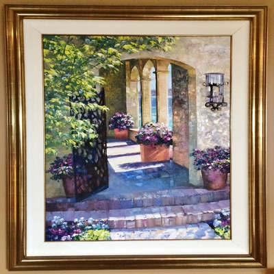 HOWARD BEHRENS - Casa Palmera Hideaway - Oil on Canvas - 32x44 inches