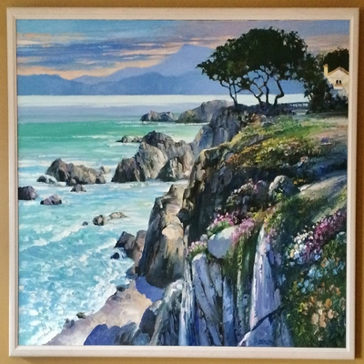 HOWARD BEHRENS - Monterey Bay - Oil on Canvas - 52x38 inches