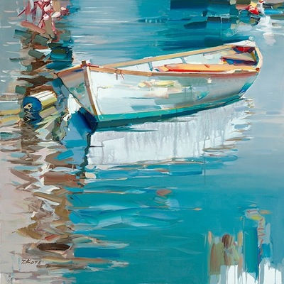 JOSEF KOTE - Looking for Summer - Embellished Giclee on Canvas - 48x36 inches