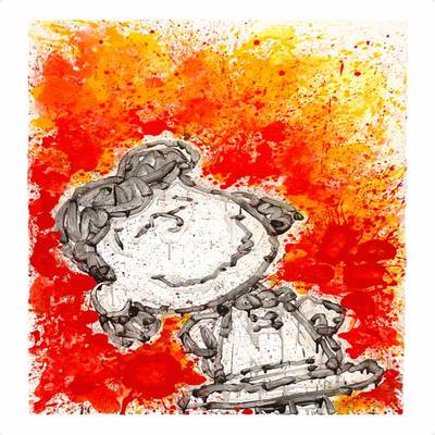 TOM EVERHART - Girlfriend Dreams - Giclee & Silkscreen on Paper - 42x28.5 inche