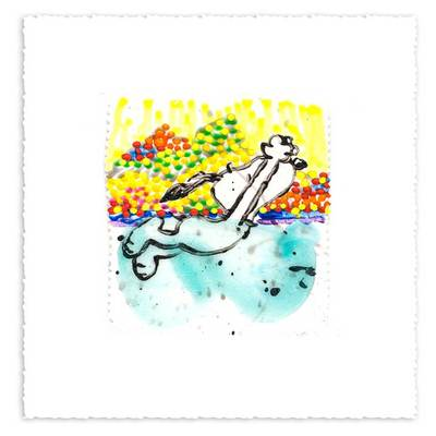 TOM EVERHART - Dogg E Paddle XXVl - Giclee & Silkscreen on Paper - 6x7.5 inches