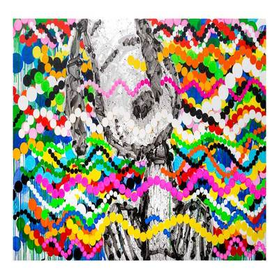 TOM EVERHART - Big Poppa - Giclee & Silkscreen on Paper - 40x26 inches