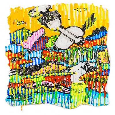 TOM EVERHART - Superfly - Winter - Giclee & Silkscreen on Paper - 15x10.5 inches