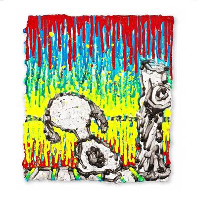TOM EVERHART - Twisted Coconut - Giclee & Silkscreen on Paper - 14x10.5 inches