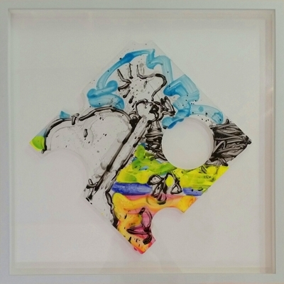 TOM EVERHART - Peep Hole 68 - Giclee & Silkscreen on Paper -  inches