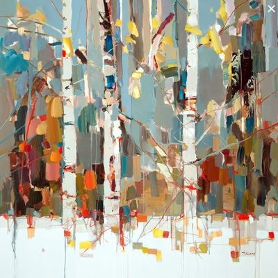 JOSEF KOTE - Expressions - Embellished Giclee on Canvas - 40x40 inches