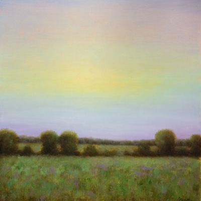 Title: Dusk , Size: 17x30 inches , Medium: Oil on Canvas