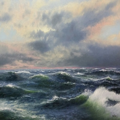 Title: Summer Storm , Size: 36 x 48 inches , Medium: Oil on Canvas
