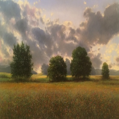 Title: Field of Summer , Size: 40x60 inches , Medium: Oil on Canvas